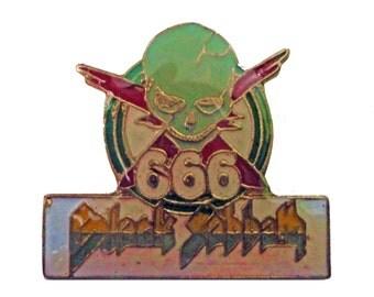 BLACK SABBATH vintage enamel pin badge button 666 sabbath bloody sabbath heavy metal