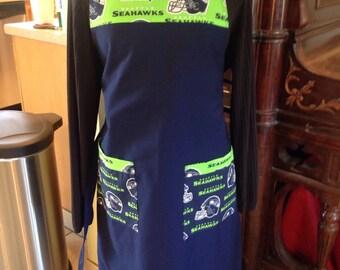 Seattle Seahawks sports fan apron double pocket