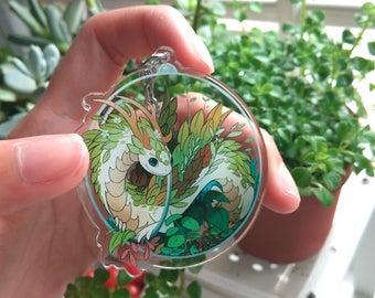 Terrarium Dragon Keychain