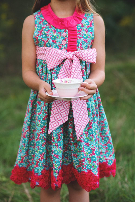 Dainty Darling Fabric by Lindsay Wilkes for Riley Blake Designs - Aqua Colorway - 7 yards