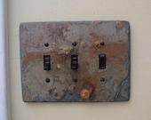 Decorative Slate Switch Plate 3 Triple Toggle Switchplate Light Wall Plate Stone Rustic TS