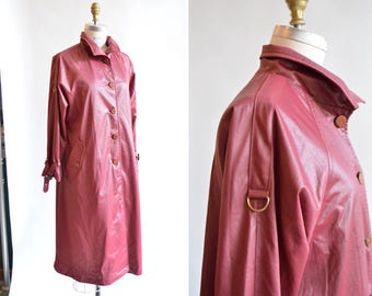 Vintage 1970s BERRY trench coat