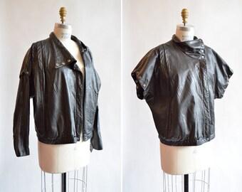 Vintage 1980s leather MOTO jacket