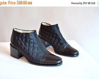 30% OFF storewide // Vintage STEPHANE de RAUCOURT quilted leather shoes / 6