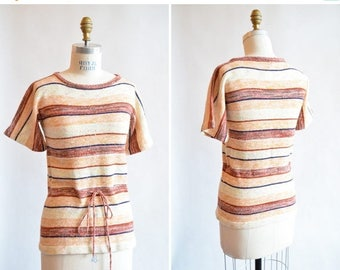 30% OFF storewide // Vintage 1970s STRIPED sweater top