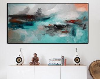 Giclee Print, Abstract print, Aqua blue Painting ,Large Abstract Painting, aqua Blue Art Print, Fine Art Print, Blue Abstract, ocean blue