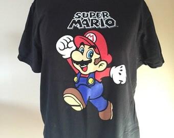Super Mario tshirt - Vintage Super Mario Bros  t-shirt - Nintendo Clothing - Super Nintendo Game Shirt