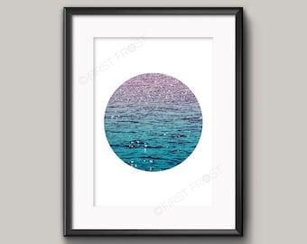 Ocean Water Print, Ocean Wall Art, Printable Art by firstfrostdesigns - INSTANT DOWNLOAD