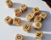 Vintage Scrabble Dice Lot - Letter Dice, Scrabble, Games, Dice, Vintage Games, Mixed Media Supplies, Assemblage Art, Scrapbooking