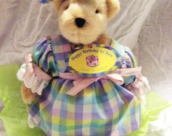 vintage, retired Happy Birthday Muffy Vanderbear with tag.-sale