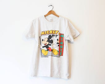 Vintage Walt Disney Mickey MInnie  Mouse California T Shirt