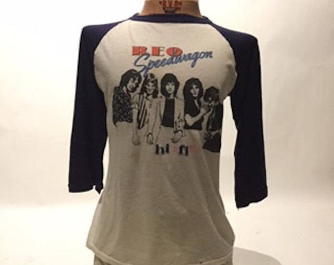 Vintage REO Speedwagon Raglan Tee Shirt 80's(TS-7)
