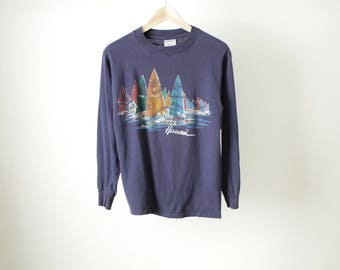 vintage 80s HAWAII view from the water TOURIST t-shirt made in HAWAII