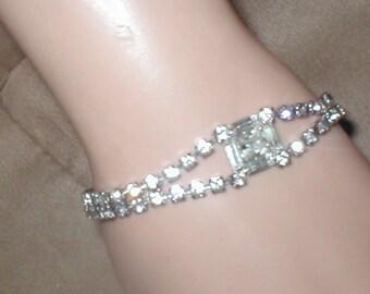 Vintage 1950s Rhinestone Bracelet
