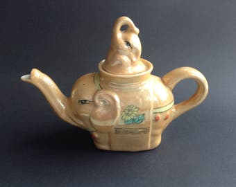 Vintage 1950s Elephant China Tea Pot from Child's Tea Set