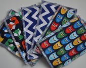 Set of 6 Custom Baby Minky Wipes or Washcloth