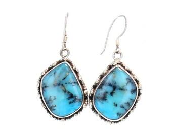 PERUVIAN OPAL Earrings STERLING  #3 NewWorldGems