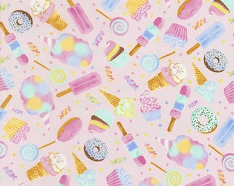 Watercolor Sweets by Timeless Treasure -1 yard Fabric