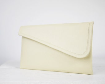 Set of  simple Ivory bridesmaid clutches | simple ivory purse | ivory clutch