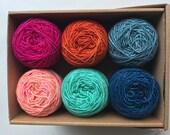 MERINO Singles Mini Balls Set No. 13 - 100% Virgin Wool superwash (Merino) 6x20g/yardage 438m/474yards
