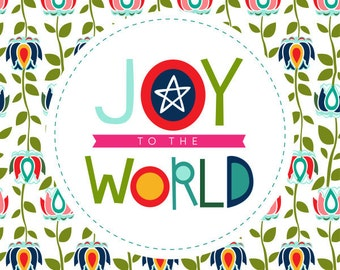 Joy to the World Christmas Art Print 16x20