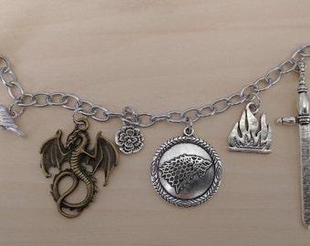 Game of Thrones themed charm bracelet