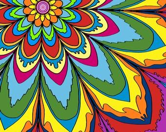 Flower Power large print