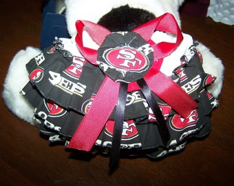 49ERS SanFransico Football Team Baby Girl Bloomers Back Ruffle Diaper Cover Panties New Baby Sports Game Day Baby Shower Gift Photo Shoot