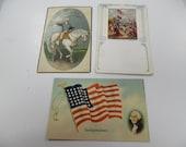 vintage postcards, old post cards, patriotic post cards, flag postcards p101