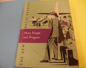 More People and Progress , school book, vintage school book, old school book, school reader