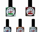 Vegan Nail Varnish Metallic, Gift Set all 5 shades, cruelty free, 5 free Nail Polish UV Indie Nail Polish, free from toxins, long lasting