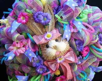 Easter Sisal Bunny wreath