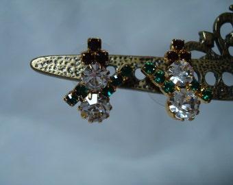 1992 Rhinestone Snowman Earrings.