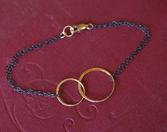 Mixed Metals Gold Eternity Link Bracelet