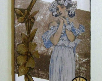 Collage.  Original collage.  OOAK collage.  Real simple art. Unframed collage. Decoupage. Art.