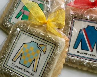 Kentucky derby silks cookie favors