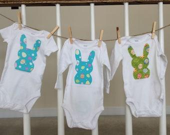Bunny Onesies-Rabbit Onesies-Easter Shirt-Easter Onesie-Chevron Onesie-Easter Bodysuit-Bunny Bodysuit