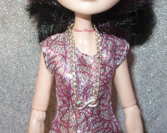 Handmade Custom Infinity Pendant Necklace for Ever After High Monster High Barbie Doll by TorresDesigns Ready to Ship