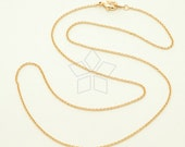 CH-131-RG / 10 Pcs - New High Quality Ultra Fine Chain Necklace (230s) with Lobster Clasp, Rose Gold Plated over Brass / 18 inch