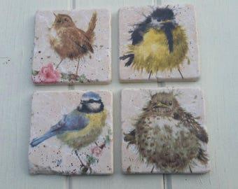 Cute Baby Birds Coaster Set of 4 Tea Coffee Beer Coasters