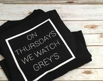 On Thursdays We Watch Greys / long sleeve Jersey/ J AMERICA
