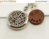 On Sale Dog Lover Aromatherapy Stainless Steel Locket Love My Dog Charm Necklace And Hand Stamped Personalized Leather Pads