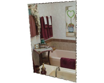 "24"" x 36"" Front Chipped Frameless Rectangle Mirror"