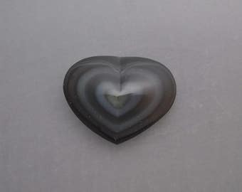 Carved Rainbow Obsidian Heart