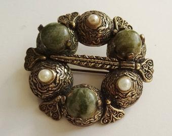 Vintage Sol D'Or Miracle Celtic Brooch, Vintage Sol D'or Pin, Vintage Celtic Pin