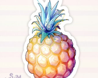 Fat Pineapple 2 vinyl sticker