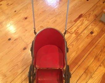 Vintage thayer zephyr baby stroller