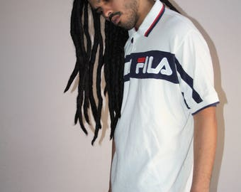 90s Vintage Fila Sportswear Minimalist Hip Hop Polo T Shirt - 1990s Fila - 90s Clothing - MV0203
