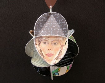 Joni Mitchell Album Cover Ornament Made Of Record Jackets Egg Shaped