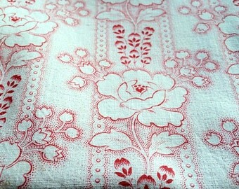 Vintage french fabric for projects Made in France French country decor cotton fabric